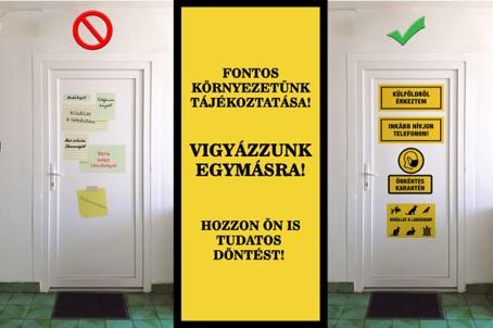 Magyarország koronavírus táblák matricák