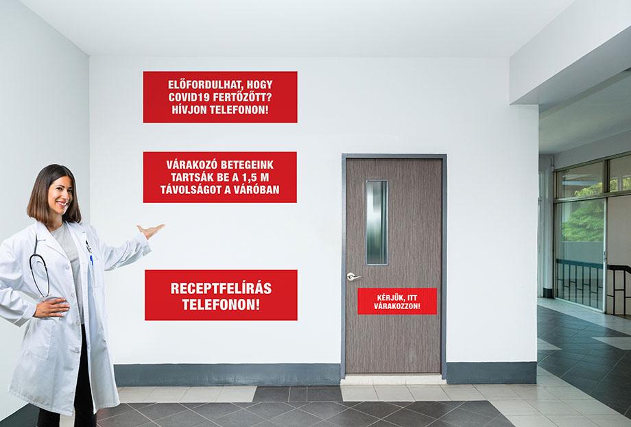 Magyarország koronavírus táblák matricák webshop