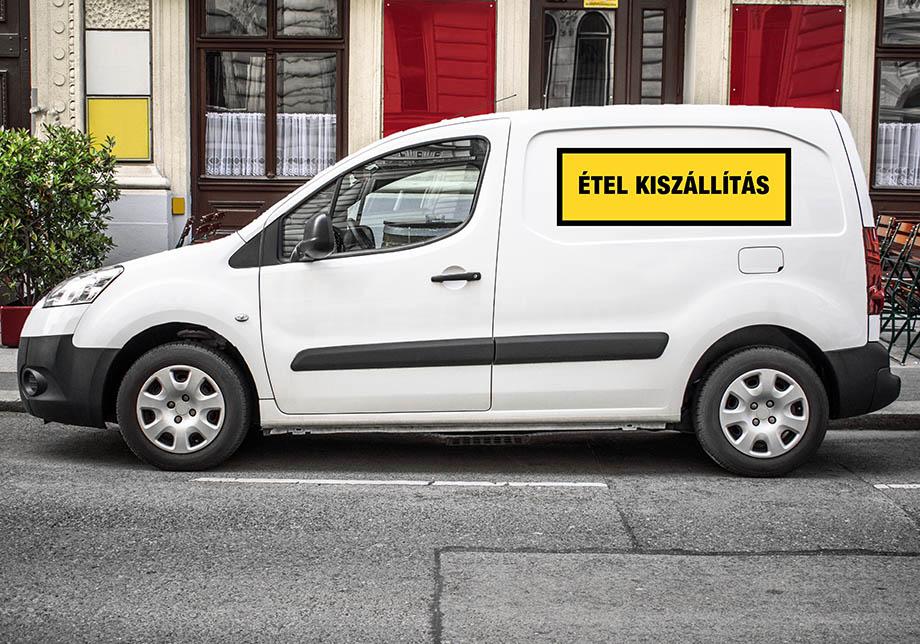Magyarország koronavírus táblák matricák autó minta
